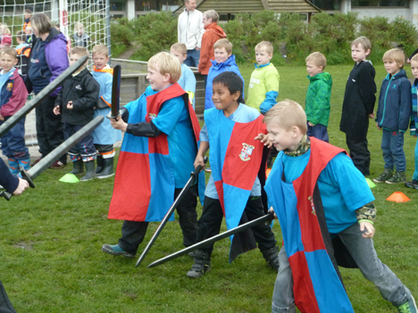 Skolefritidsordningerne mødes til Funky Festival i Hobro.