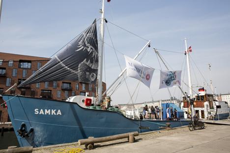 Børnekunstskibet M/S BIBIANA besøger Hadsund og Hobro