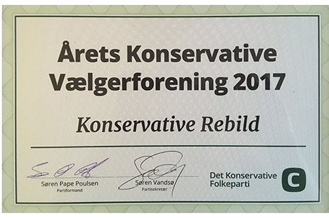 Rebild Vælgerforening er kåret til Årets konservative vælgerforening
