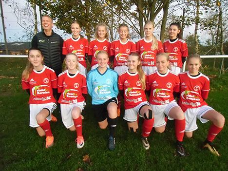 IK Rosendal Fodbold piger køreklar i nyt spilletøj