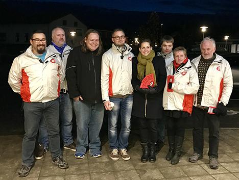 Besøg af SF's formand Pia Olsen Dyhr i Mariager mandag eftermiddag