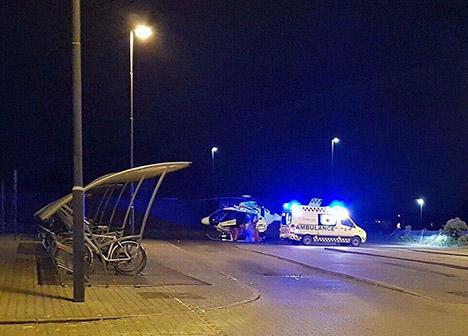 Redningshelikopter landede i Hadsund