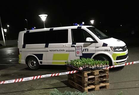 Tyve forvandlede sig til røvere i en dagligvarebutik i Hobro