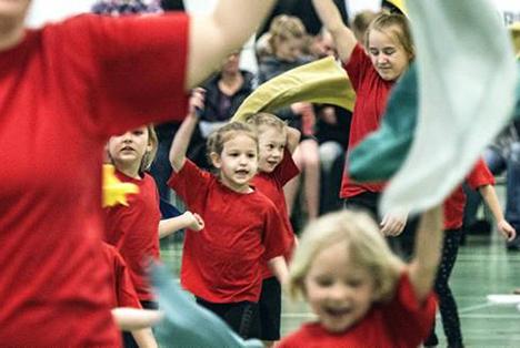 Opvisning i Hadsund gymnastikforening