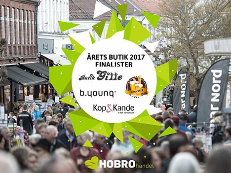 Hobro Handel Årets Butik 2017 - finalister er fundet.
