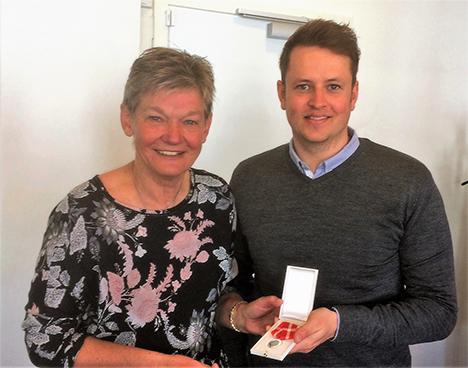 Den kongelige belønningsmedalje til Krista Lykkegaard