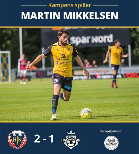 Kampens spiller blev i dag Martin Mikkelsen