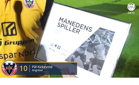 Pål kåret som månedens spiller i Alka Superligaen