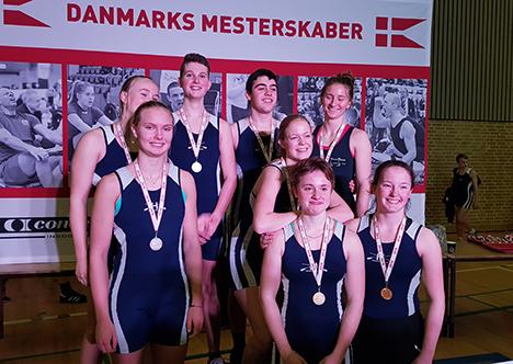 10 medaljesæt til Hadsund Roklub ved årets DM i indendørsroning