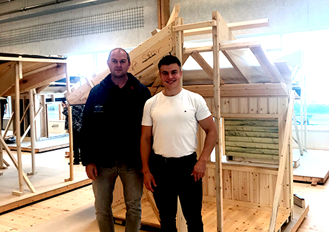 Christoffer Visted Jensen ny tømrersvend