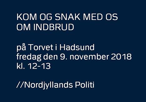 Der er for tiden mange indbrud i Mariagerfjord |Fredag stiller politiet op til dialog og gode råd