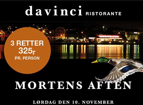 Mortens aften på Davinci
