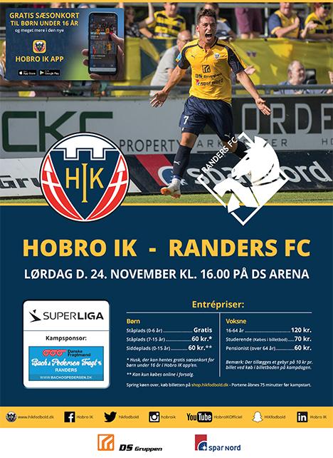 Hobro tager imod Randers på lørdag