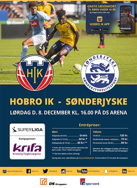 Hobro IK tager imod Sønderjyske i Årets sidste hjemmekamp