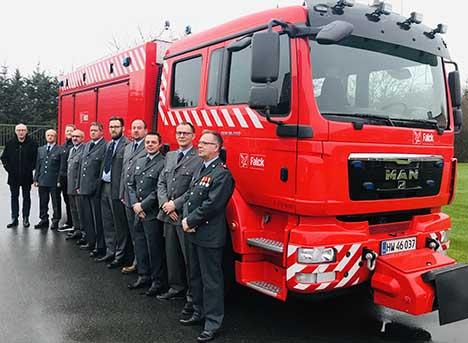 Årets nytårsparole på Als Brandstation fejret med ny brandbil
