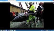 Hvalen er nu på land i Hobro
