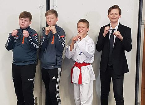 Mathias Andersen sejrede i 3 ud af 4 karatekampe