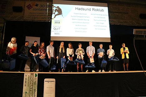Udøvere fra Hadsund Roklub blev hyldet ved award-show