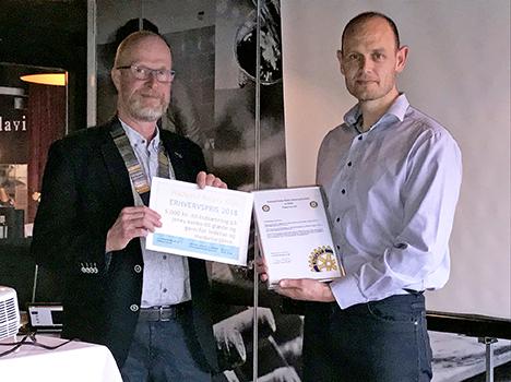 Hadsund Rotaryklubs Erhvervspris 2018 uddelt