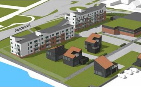 Nørresundby Boligselskab vil bygge flere almene boliger på slagterigrunden i Hadsund