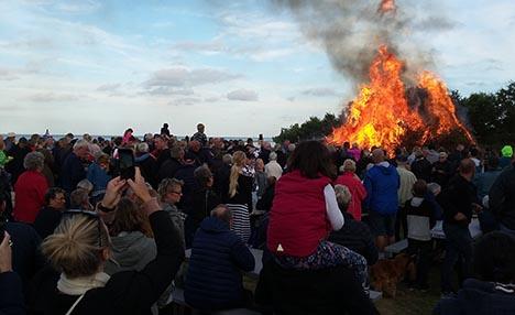 Flere hundrede mennesker til Sankt Hans i Øster Hurup