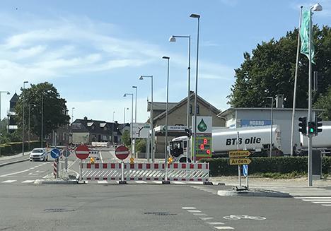 Hostrupvej i Hobro spærret hele uge 28   Følg skiltene for omkørsel