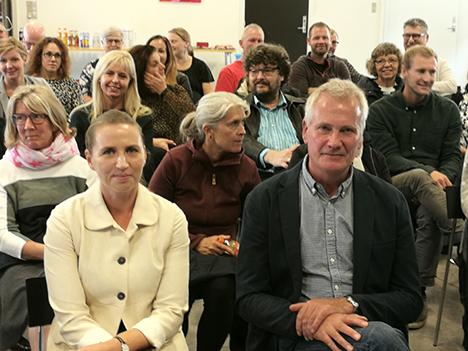 Statsministerkandidat Mette Frederiksen besøgte Mariager