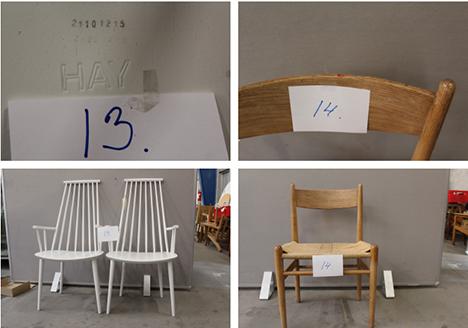Politiet leder efter ejere til designermøbler
