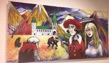 Maleri af Henry Barrach skænket til Hadsund Bibliotek.