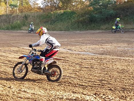 Hadsund Motorcross gav den gas i efterårsferien
