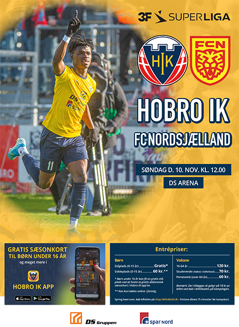 Hobro tager imod FC Nordsjælland | Søndag den 10. november