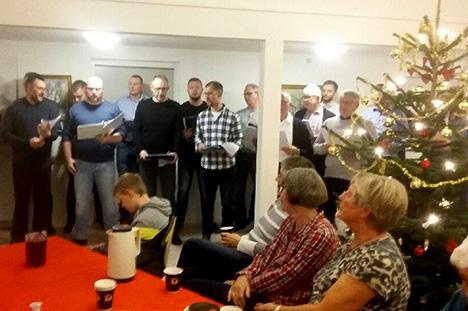 Julen blev sunget ind på Teglgården i Als