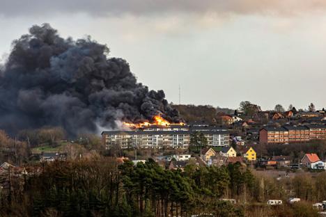 Opdatering: brand i en etageejendom i Hobro