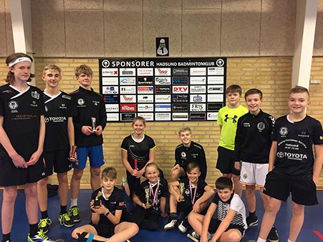Masser af vinterferie -medaljer til Hadsund Badminton Klub