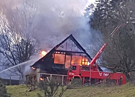 Villa brænder i Norup ved Hadsund