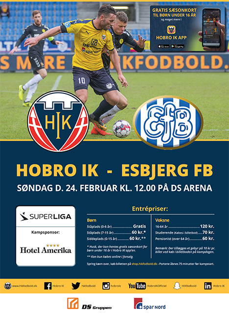 Hobro IK tager imod Esbjerg