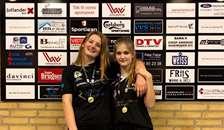 Nakita Ladefoged og Klara Ravn Nielsen har vundet LM 2019 i damedouble U15C
