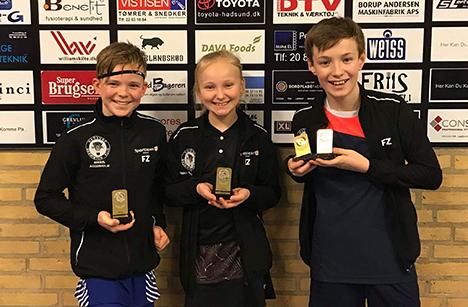 Mikkel - Emma og Mads hentede medaljer i Hammel