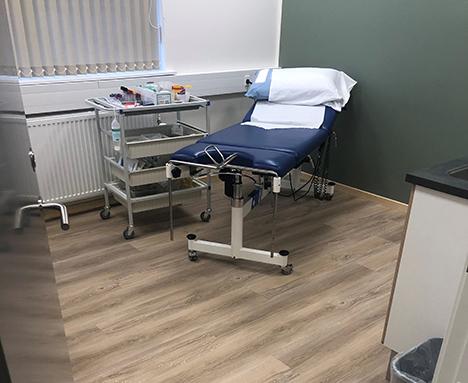 Korkgulve fra Timberman skaber et sundt arbejdsmiljø i nyt lægehus