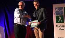 Sparekassen Hobro Fonden støttede Mariagerfjord Idrætsråds store Award med 50.000 kroner