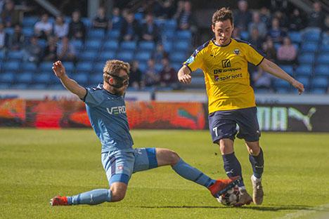Hobro IK tabte efter chanceorgie i Randers
