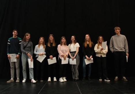 10 elever fra Tradium Handelsgymnasiet Mariagerfjord får diplom fra Nordjyske Gymnasiers Talentakademi