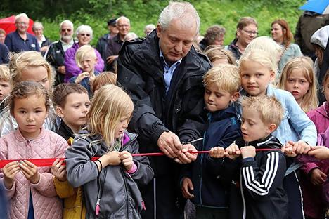 Forsømt område i Hørby indviet som nyt levende rekreativt fællesområde