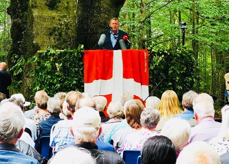 Lars Løkke talte ved grundlovsmødet i Terndrup