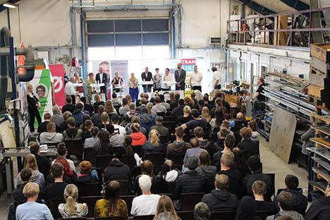 Stor spørgelyst til valgdebat på Hobro Produktionshøjskole