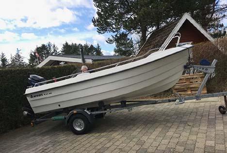 Trailer med båd forsvundet