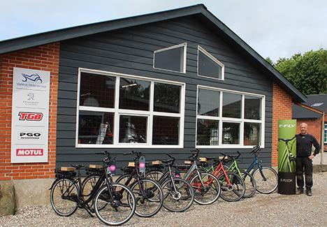 Medvind på cykelstierne i Hørby!