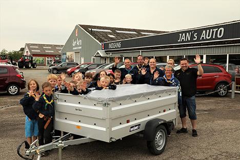 Spejderne i Hobro fik ny trailer af Jans Auto