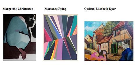 Kunstnergruppen Pii udstiller igen malerier i Det Røde Pakhus, Hobro.