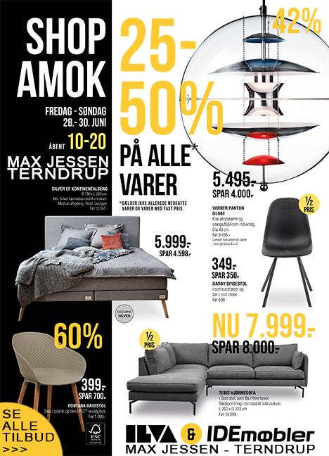 SHOP AMOK udsalg i weekenden hos Idé Møbler Max Jessen - Terndrup
